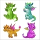 Cartoon Baby Dragons Set - GraphicRiver Item for Sale