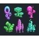 Shiny Fantasy Alien Plants - GraphicRiver Item for Sale
