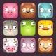 Cartoon Square Animal Faces - GraphicRiver Item for Sale