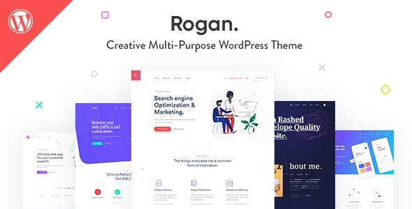 Rogan - Creative Multipurpose WordPress Theme for Agency, Saas, Portfolio