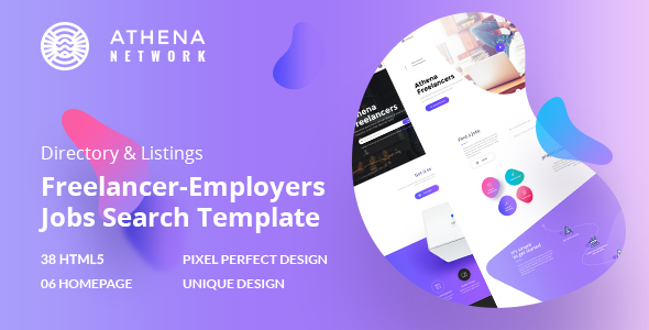 Athena - Job Board  Marketplace HTML Template with Dashboard