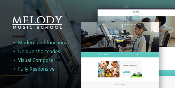 Melody - School of Arts & Music School WordPress Theme