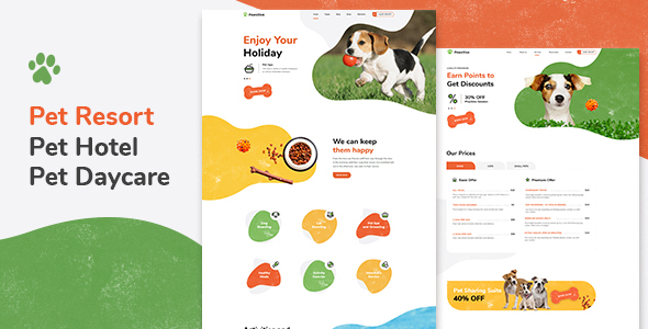 Pawsitive - Pet Hotel & Shop WordPress Theme