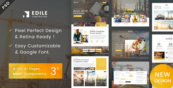Edile - Construction PSD Template