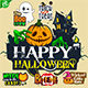 Halloween Sticker Theme - GraphicRiver Item for Sale