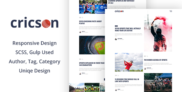 Cricson - Multipurpose Jekyll Blog Theme