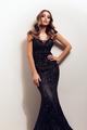 Beautiful elegant woman posing in black maxi dress - PhotoDune Item for Sale