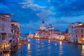 View of Venice Grand Canal and Santa Maria della Salute church in the evening - PhotoDune Item for Sale
