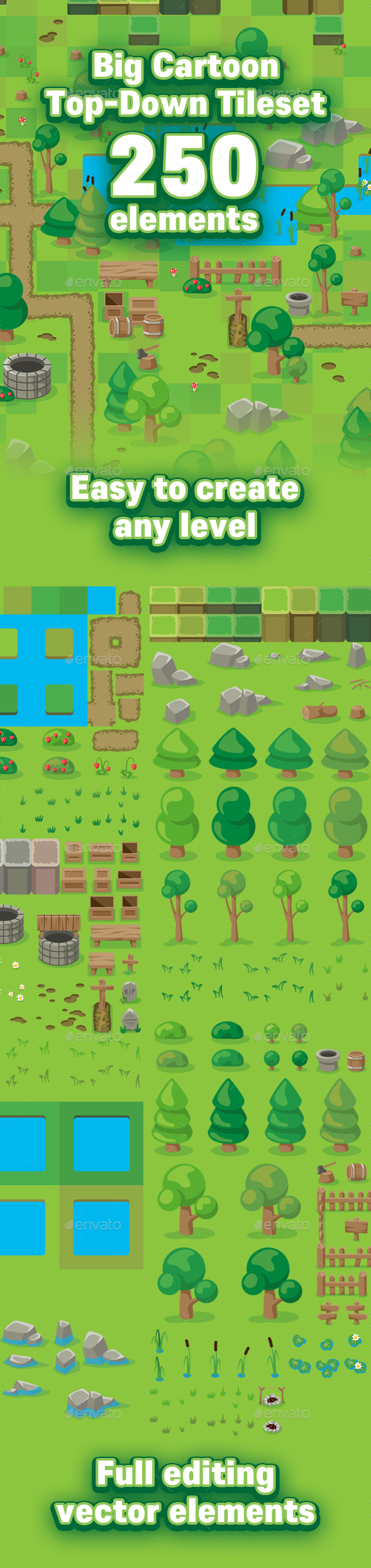 16X16 Tileset game tilesets from graphicriver