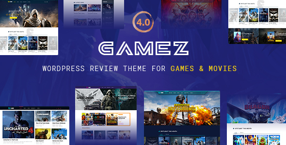 Best WordPress Review Theme For Games, Movies And Music - Gamez