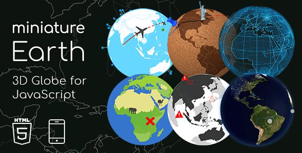 Miniature Earth   3D Globe for JavaScript
