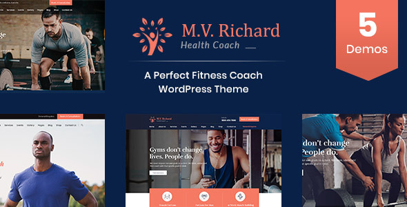 MV Richard - Health and Fitness WordPress Theme