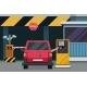 Parking Entrance with Security Barrier Gate - GraphicRiver Item for Sale