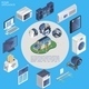 Isometric Smart Home Round Concept - GraphicRiver Item for Sale