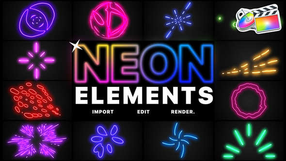 Neon Elements   FCPX
