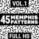 45 Memphis Patterns Vol.1 - VideoHive Item for Sale