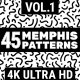 45 Memphis Patterns Vol.1 4K - VideoHive Item for Sale