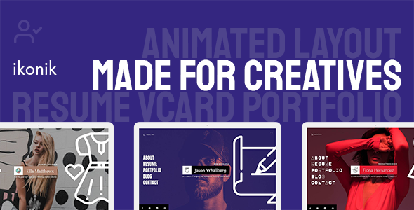 Ikonik - Resume vCard WordPress Theme
