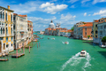 View of Venice Grand Canal and Santa Maria della Salute church on sunset - PhotoDune Item for Sale