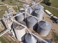 Aerial view of grain elevators and industrial area in South Dakota. - PhotoDune Item for Sale