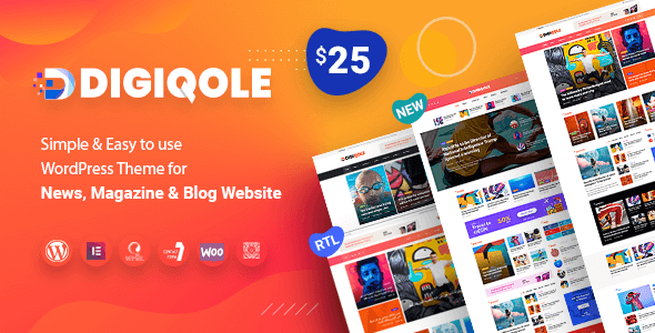Digiqole - News Magazine WordPress Theme