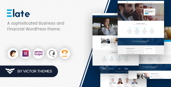 Elate | Financial Consulting WordPress Theme