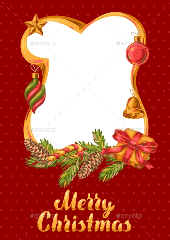 Merry Christmas Frame Design