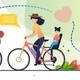 Eco Travelling on Bicycles Around World Poster - GraphicRiver Item for Sale