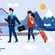 Webpage Banner Inviting on Family Winter Vacation - GraphicRiver Item for Sale