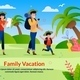 Family Vacation Scouting Advertising Flat Poster - GraphicRiver Item for Sale