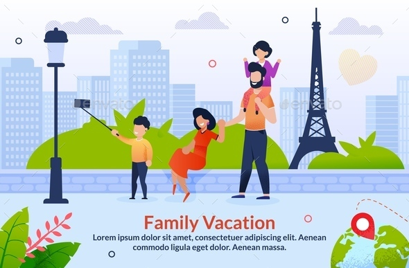 Tour Abroad on Family Vacation Motivation Poster