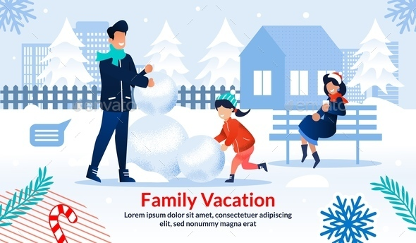 Poster Motivating Spend Winter Time with Family