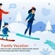 Family Snowboarding on Mountain Ski Resort Poster - GraphicRiver Item for Sale