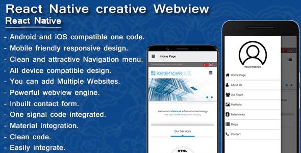 Creative webview | Web2app converter | React Native