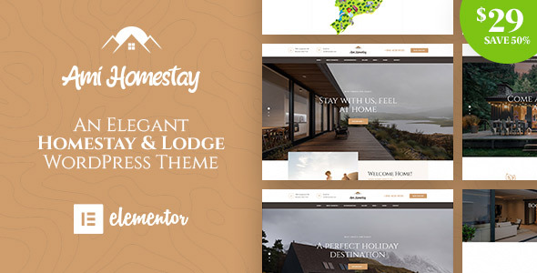 Ami Homestay - Hotel Booking WordPress Theme