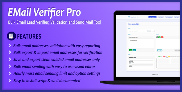 Email Verifier Pro - Bulk Email Addresses Validation, Mail Sender & Email Lead Management Tool Download