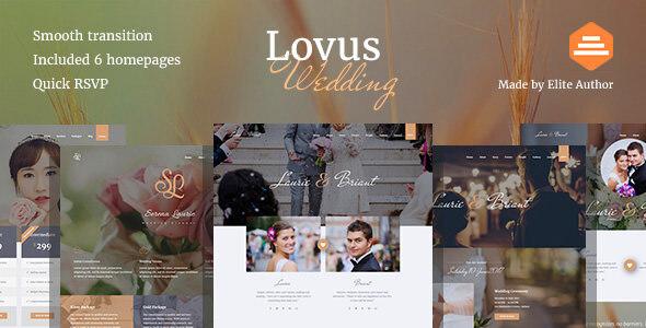 Lovus - Wedding Website Template