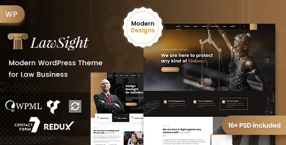 Lawsight - Lawyer & Law WordPress Theme