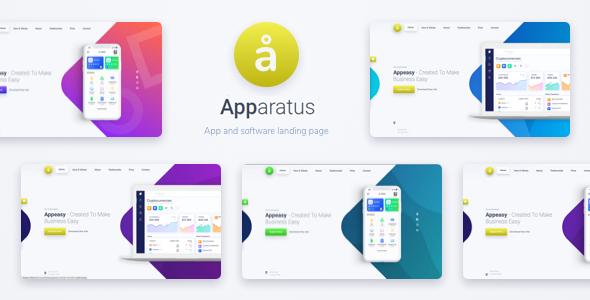 Apparatus   A Multi-Purpose One-Page Portfolio and App Landing Theme