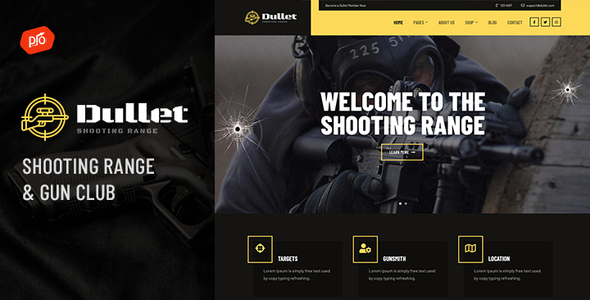 Dullet - Shooting Range & Gun Club Theme