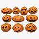 Halloween Pumpkins Emoji Set - 3DOcean Item for Sale