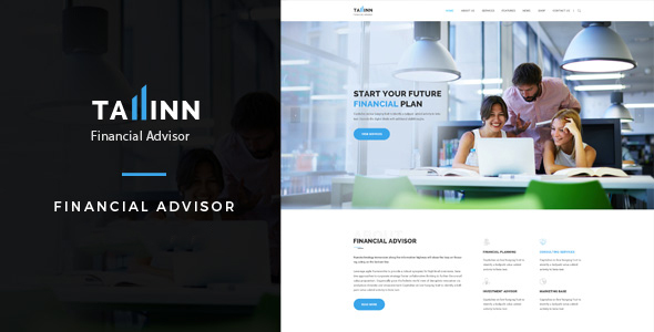 Tallinn - Business and  Consultancy WordPress Theme