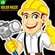 Builder Mascot - GraphicRiver Item for Sale