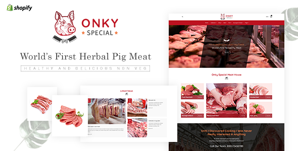 Onky | Pork, Meat Shopify Theme