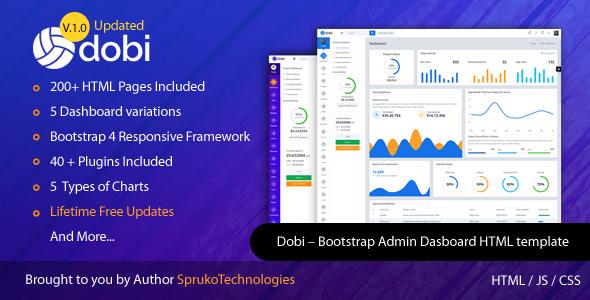 Dobi  - Bootstrap Admin Dashboard HTML Template