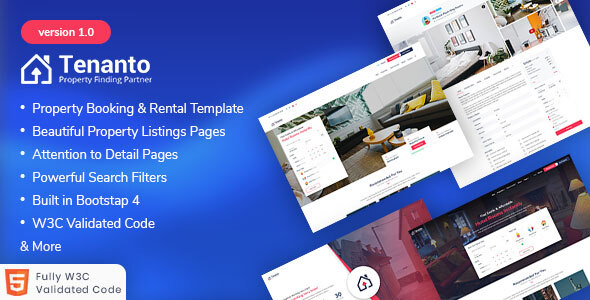 Tenanto - Homes and Property Rental Template