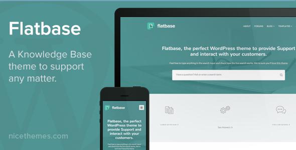 Flatbase - A responsive Knowledge Base/Wiki Theme