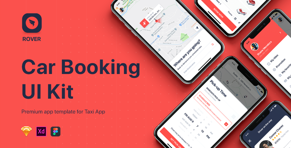 ROVER - Taxi UI Kit for Mobile App