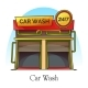 Car Wash Station or Carwash Building, Auto Washer - GraphicRiver Item for Sale