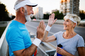 Active senior couple engaging in healthy sports activies - PhotoDune Item for Sale